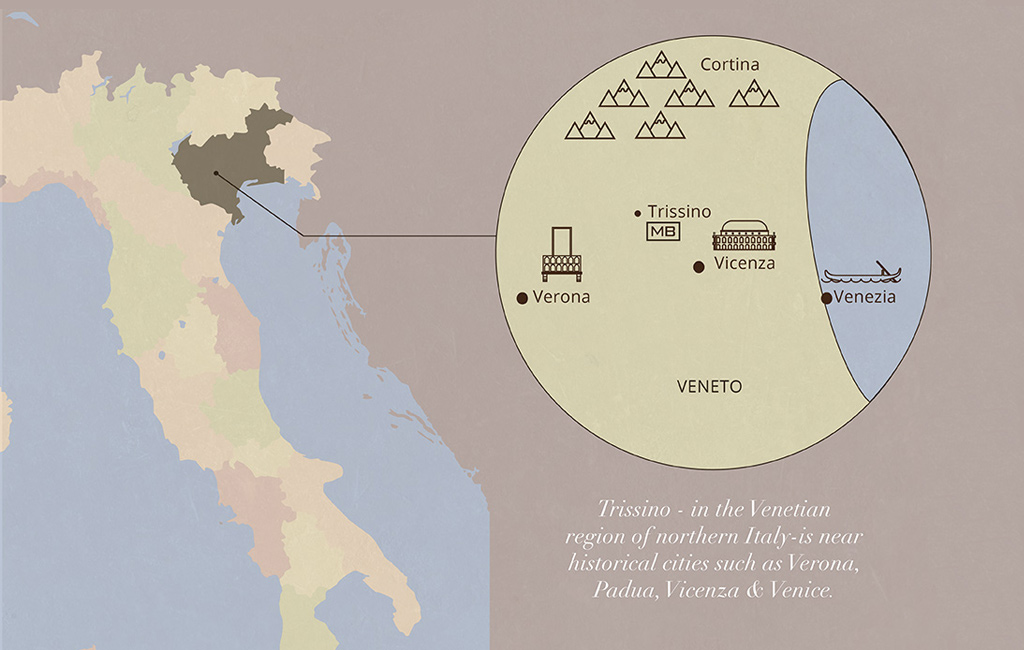 veneto map design