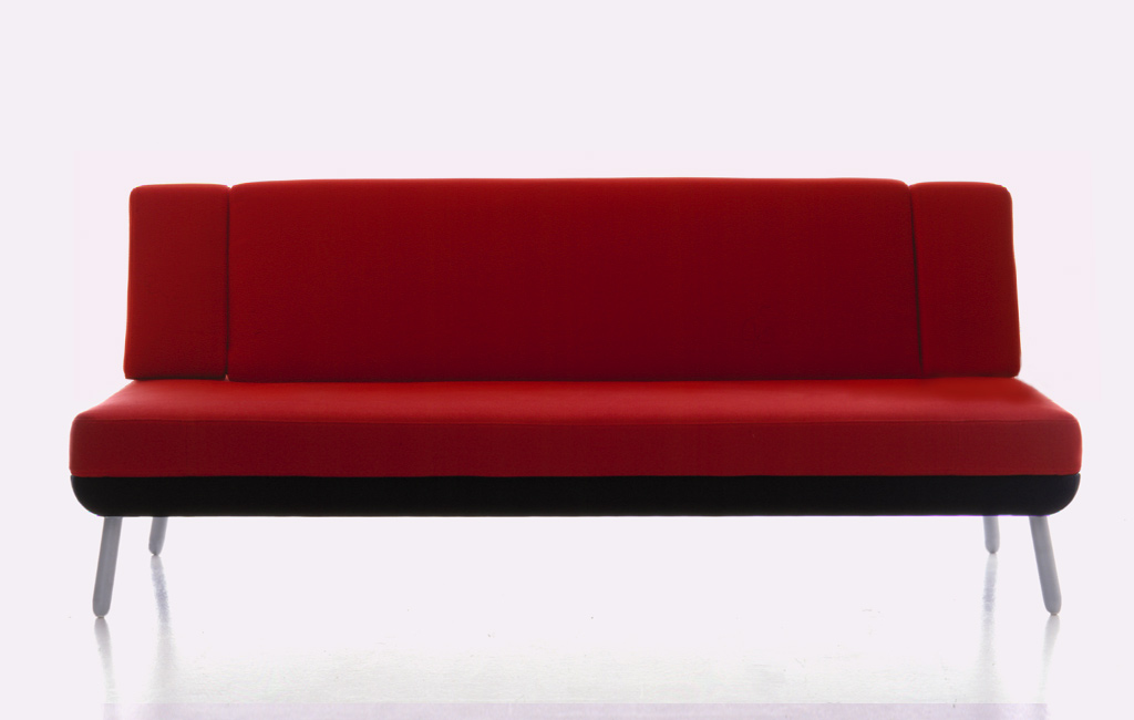 red sofa design